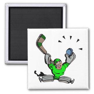 Goalie Save Green Magnet