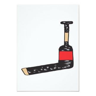 Goalie Stick 5x7 Paper Invitation Card