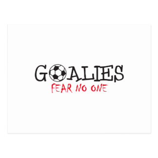 GOALIES FEAR NO ONE POSTCARD