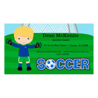 Goalkeeper Double-Sided Standard Business Cards (Pack Of 100)