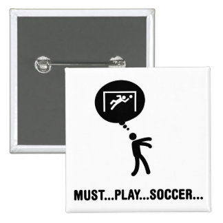 Goalkeeper 2 Inch Square Button