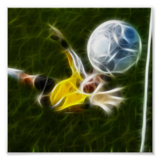 Goalkeeper in Action Posters
