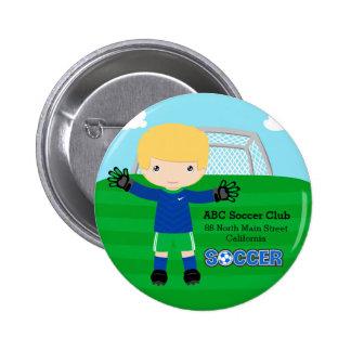 Goalkeeper Pinback Button