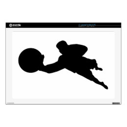 "Goalkeeper Silhouette Decal For 17"" Laptop"