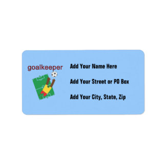 Goalkeeper T-shirts and Gifts Address Label