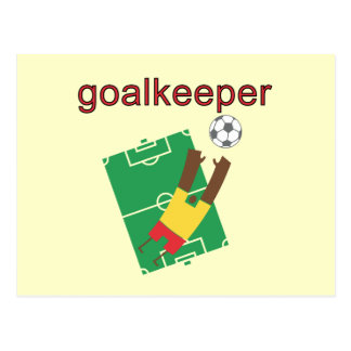 Goalkeeper T-shirts and Gifts Post Card