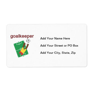 Goalkeeper T-shirts and Gifts Shipping Label