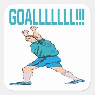 Goalllllllllllllllll Square Sticker