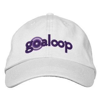 Goaloop bordó el casquillo blanco gorra de béisbol