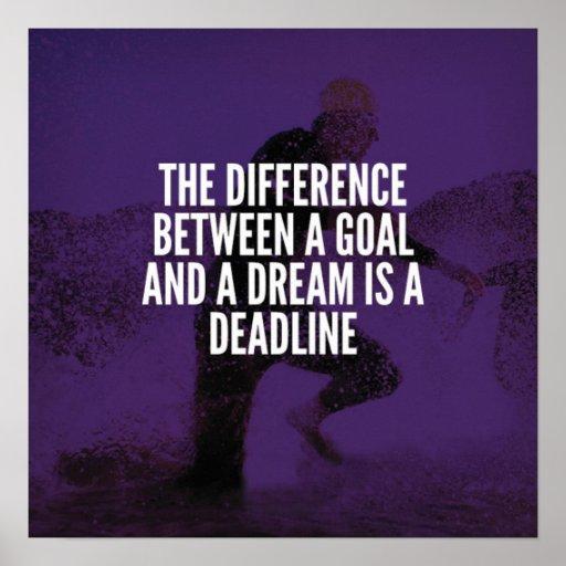 Goals, Dreams And Deadline - Workout Motivational Poster