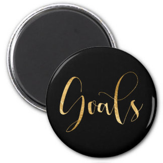 Goals Gold Black Week Planner Home Office Glam Magnet