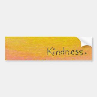 Goals love kindness fun colorful original word art bumper sticker
