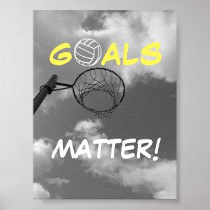 Goals Matter Motivational Netball Quote Poster