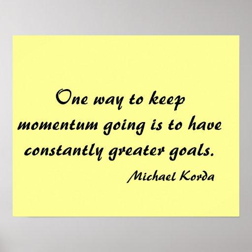 Goals poster
