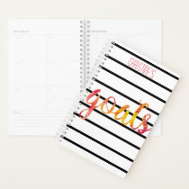 Goals Trendy Personalized Watercolor Typography Planner