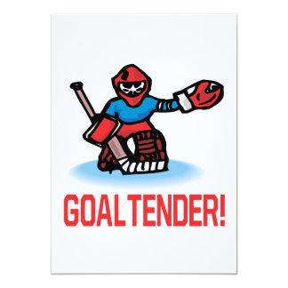 Goaltender 5x7 Paper Invitation Card
