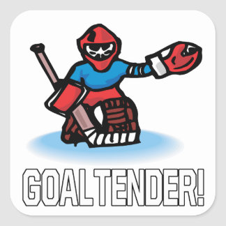 Goaltender Square Sticker