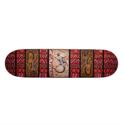 Goanna que soña el monopatín skateboard