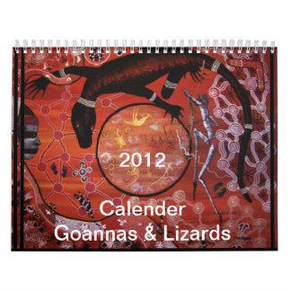 Goannas & Lizards 2012 Calender Calendar