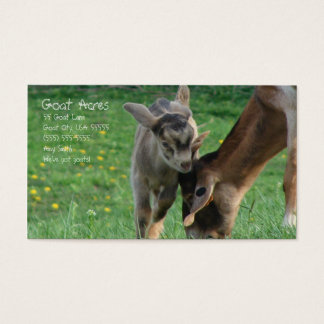 Goat Acres Business Card