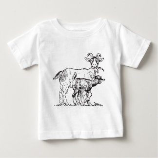 Goat and Kid Baby T-Shirt