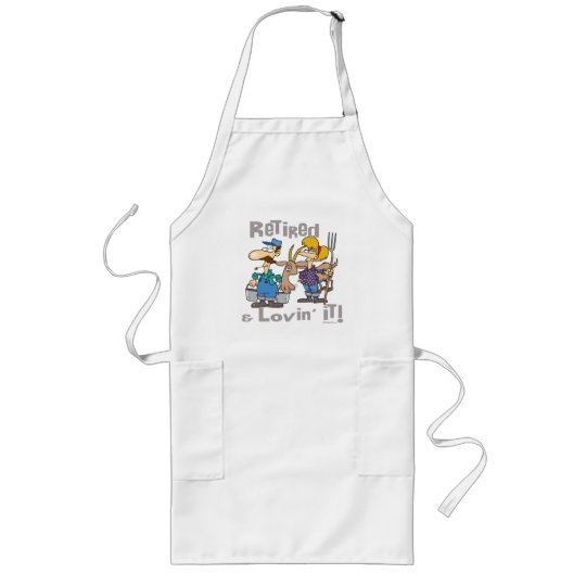 Goat and Retired Family Long Apron