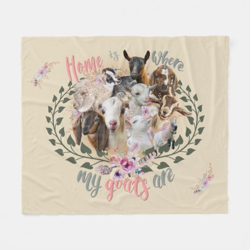 GOAT ART | Home is Where My Goats Are GetYerGoat Fleece Blanket