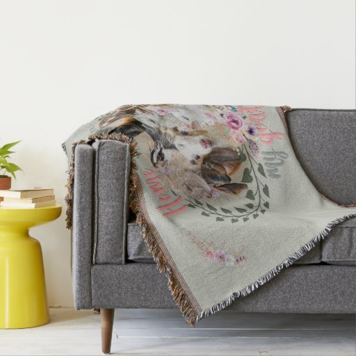GOAT ART | Home is Where My Goats Are | GetYerGoat Throw Blanket