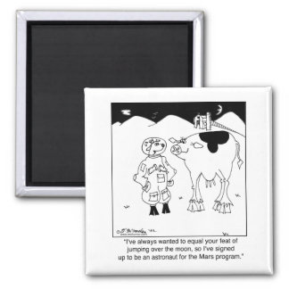 Goat Astronauts 2 Inch Square Magnet