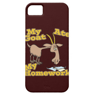 goat ate my homework funny cartoon iPhone 5 cases