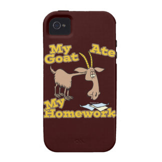 goat ate my homework funny cartoon vibe iPhone 4 covers