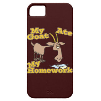 goat ate my homework funny cartoon iPhone 5 case