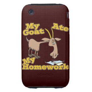 goat ate my homework funny cartoon iPhone 3 tough cover