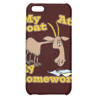 goat ate my homework funny cartoon iPhone 5C covers