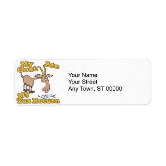 goat ate my tax return cartoon label
