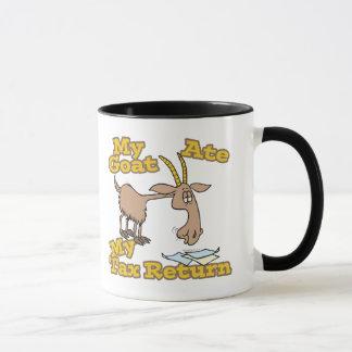 goat ate my tax return cartoon mug