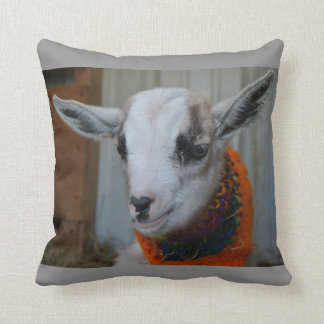 Goat Baby Kid with Sweater Barnyard Farm Animal Throw Pillow