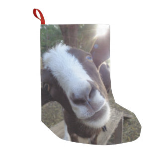 Goat Barnyard Farm Animal Small Christmas Stocking
