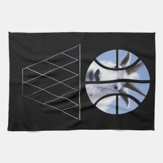 goat basketball kitchen towel