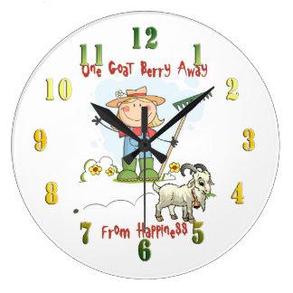 Goat Berry Funny Cartoon  Wall Clock