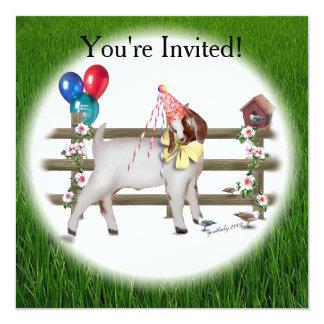 Goat Birthday Party Invitation