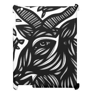 Goat Black and White iPad Case