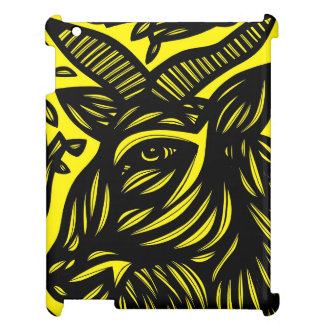 Goat Black and Yellow Case For The iPad 2 3 4