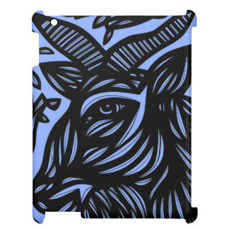 Goat Blue Black iPad Case
