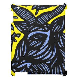 Goat Blue Black Yellow iPad Covers