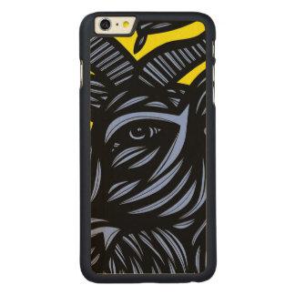 Goat Blue Black Yellow Carved® Maple iPhone 6 Plus Slim Case