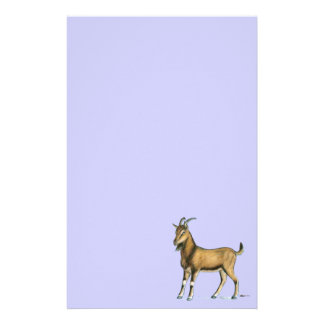 Goat:  Brown Personalized Stationery