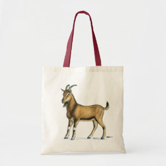 Goat:  Brown Tote Bags
