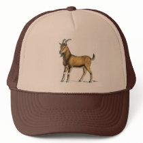 Goat:  Brown Trucker Hat