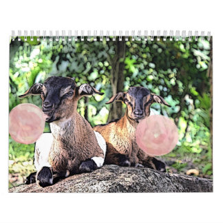 GOAT | Bubblegum Watercolor Painting Goat Calendar
